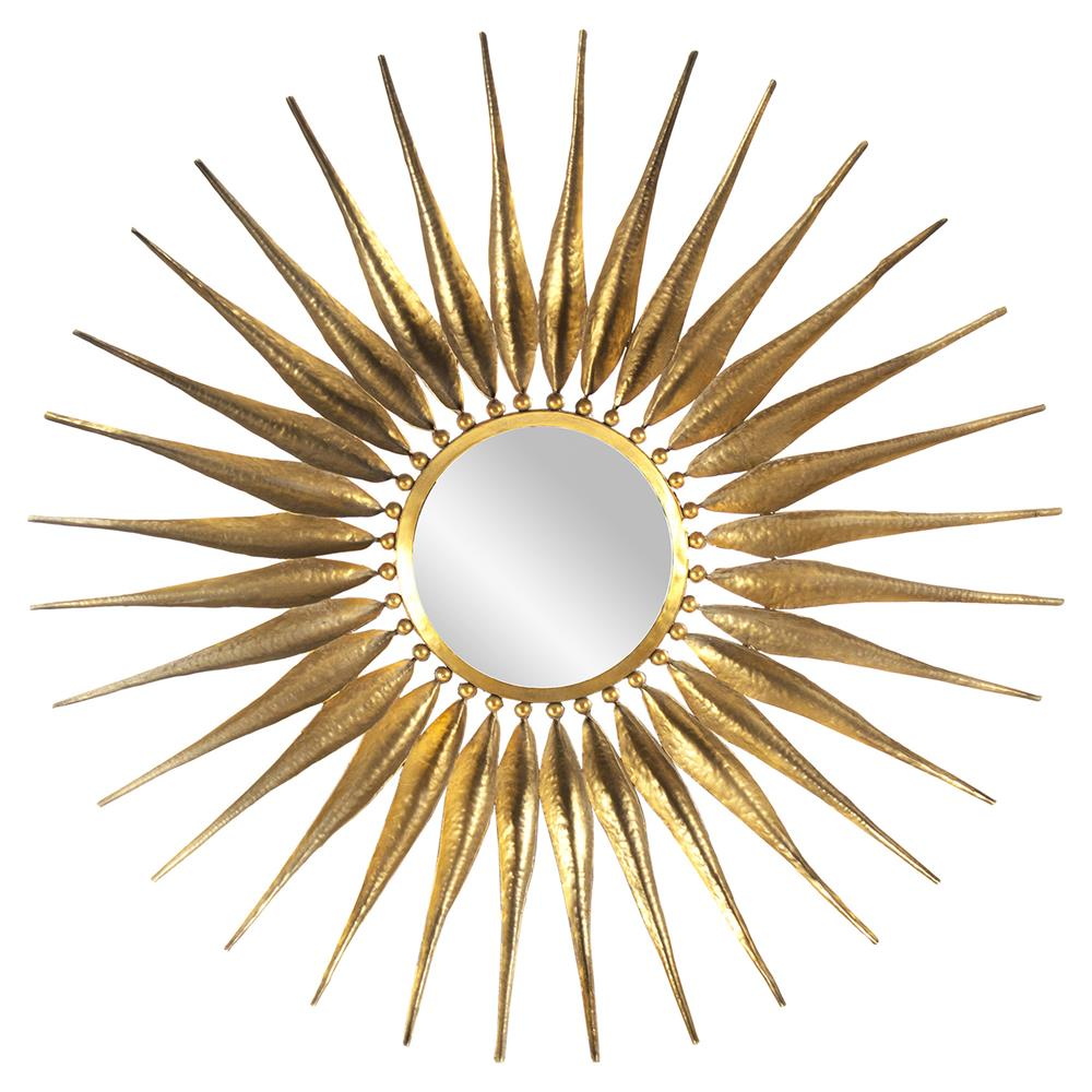 Rehan regency bazaar gold sunburst mirror kathy kuo home for Sunburst mirror