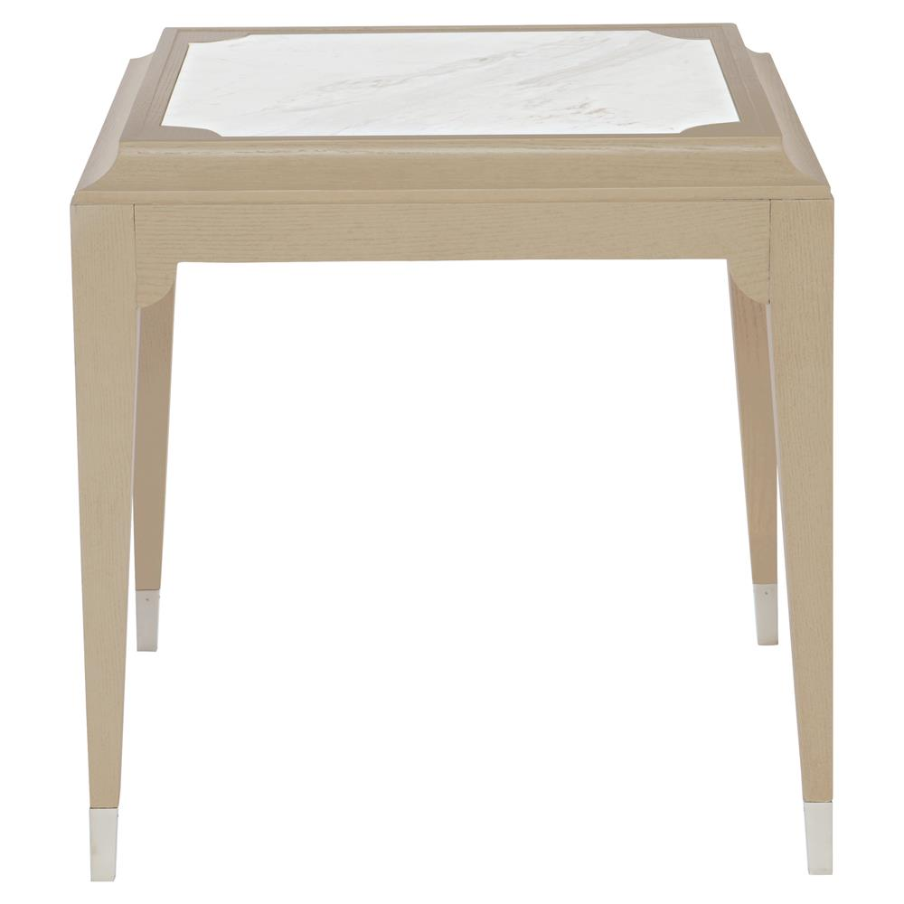 Diana Classic White Stone Ash Wood End Table
