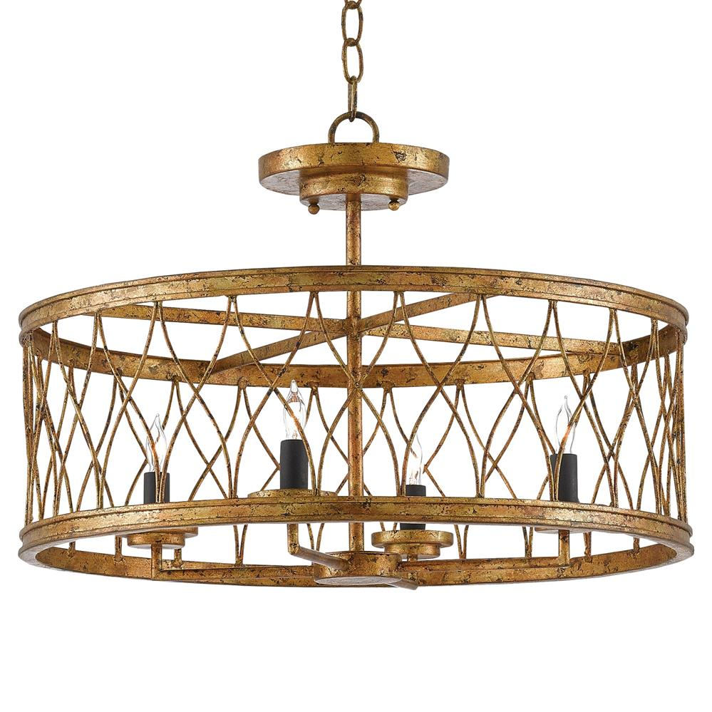 sc 1 st  Kathy Kuo Home & Furlong Gold Leaf Open Criss Cross Frame Ceiling Mount | Kathy Kuo Home