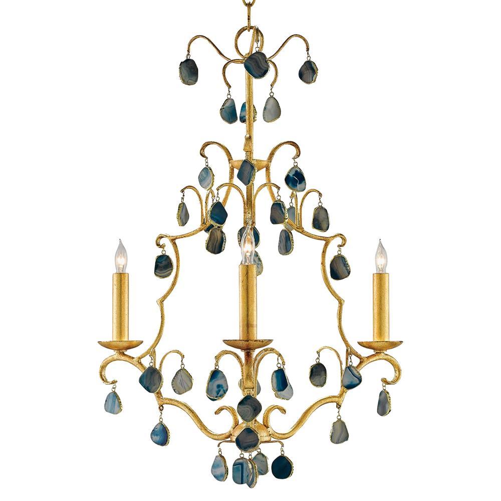 Bergman regency blue agate gold leaf chandelier kathy kuo home arubaitofo Choice Image