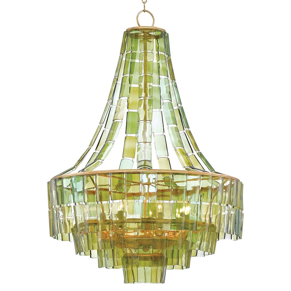 Rodger modern recycled green wine glass chandelier kathy kuo home aloadofball Gallery