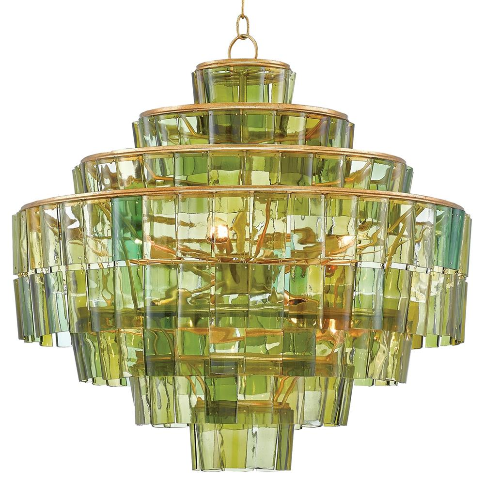 Rodger tiered wine bottle green glass chandelier kathy kuo home - Glass bottle chandelier ...