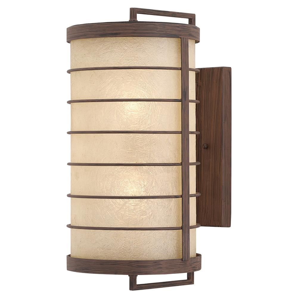 Yojiro global rustic wood japanese lantern sconce kathy kuo home aloadofball Images