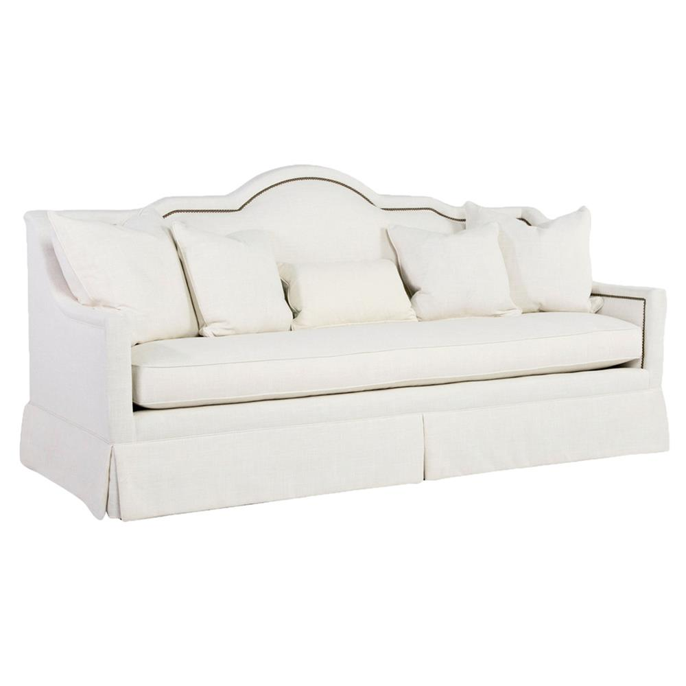 Modern classic arched antique brass vanilla sofa kathy for Sofa modern classic