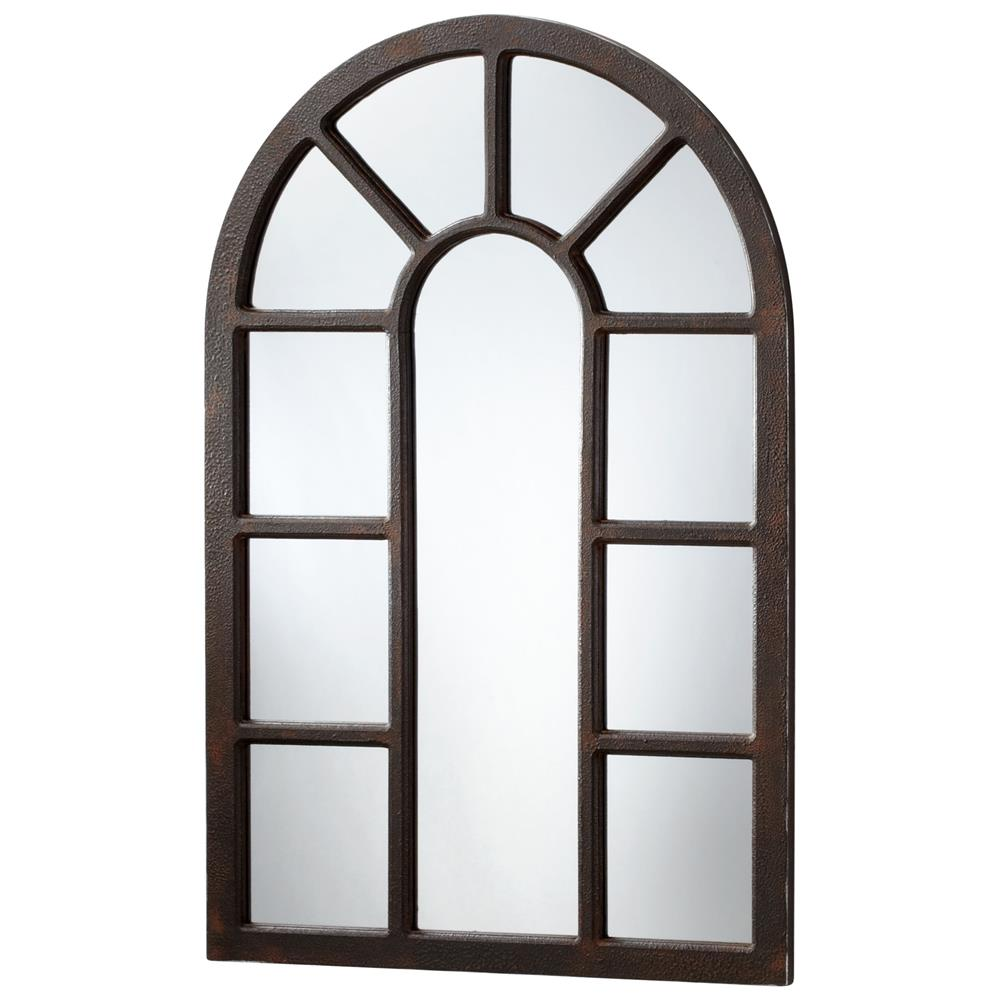 """Industrial Wall Mirror lancaster industrial loft large 48"""" iron arched wall mirror"""
