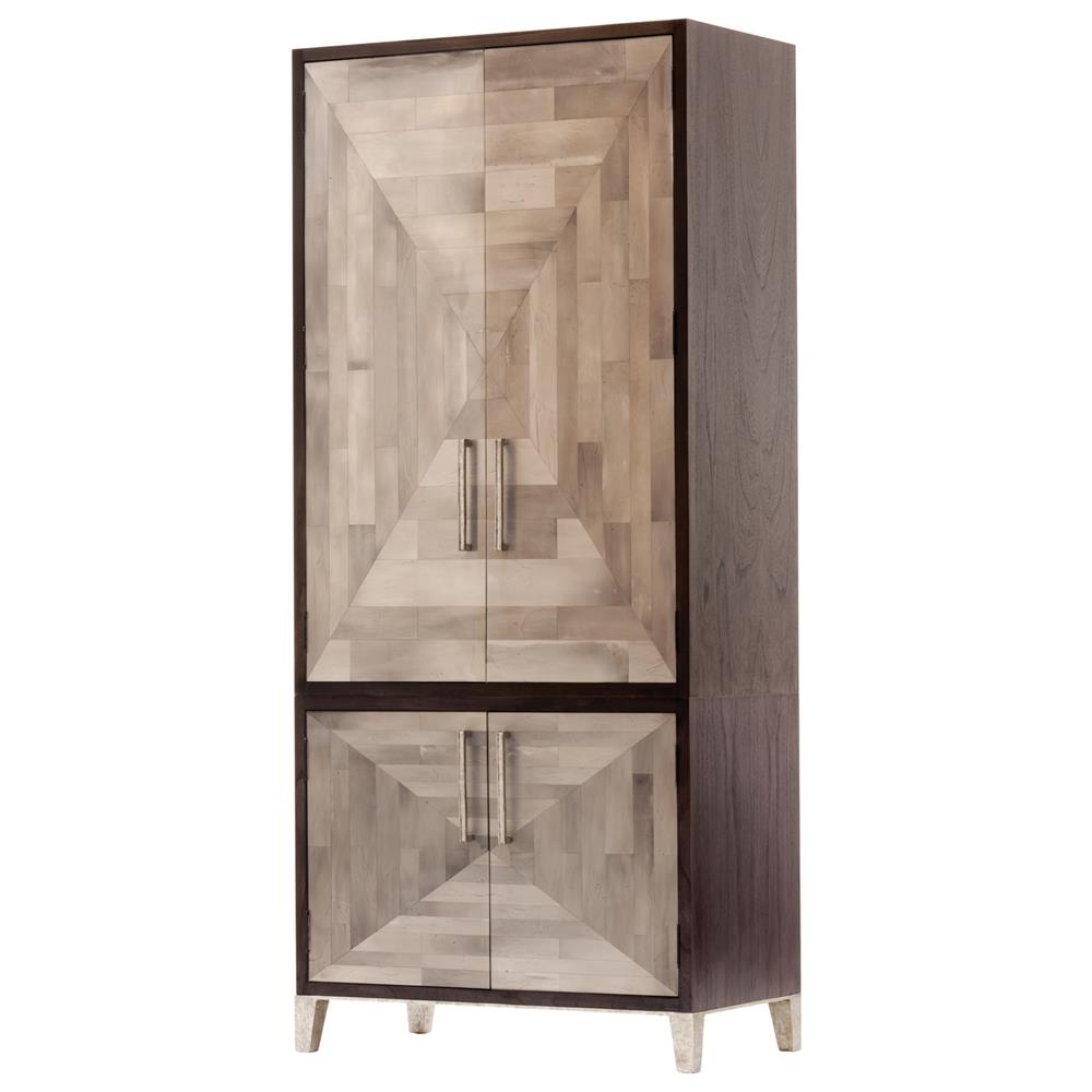 oly studio parker mosaic dark brown armoire kathy kuo home. Black Bedroom Furniture Sets. Home Design Ideas