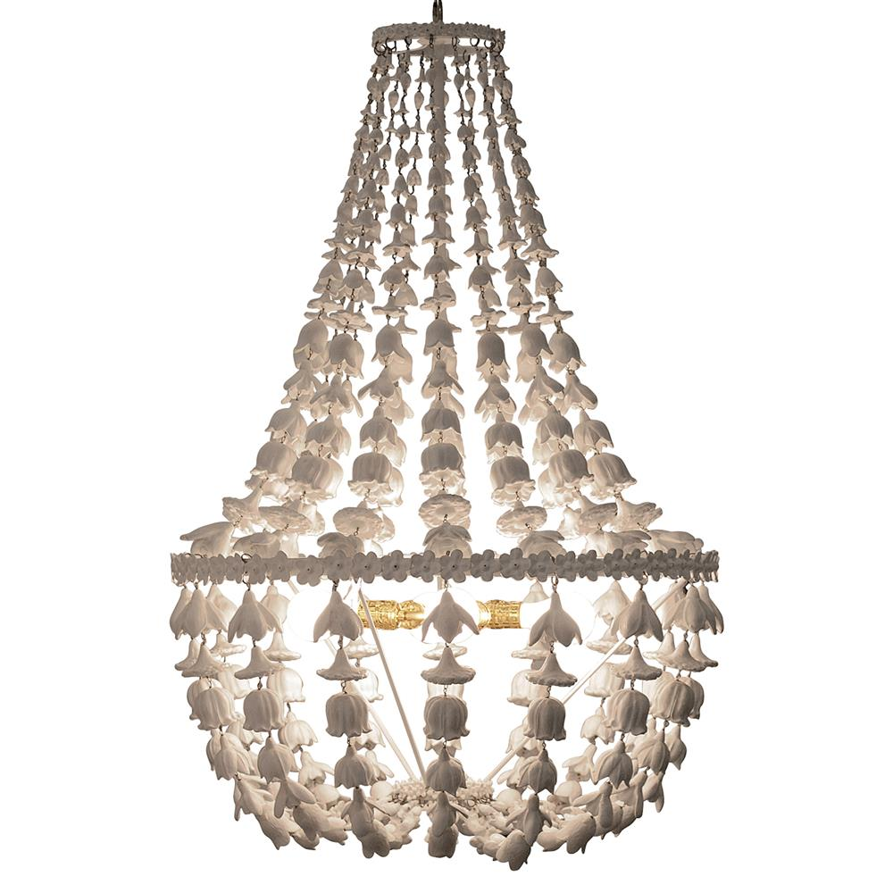 Oly studio flower drop frost white chandelier kathy kuo home arubaitofo Image collections