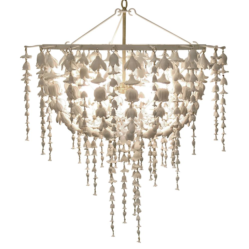 Oly studio flowerfall frost white chandelier kathy kuo home aloadofball Choice Image