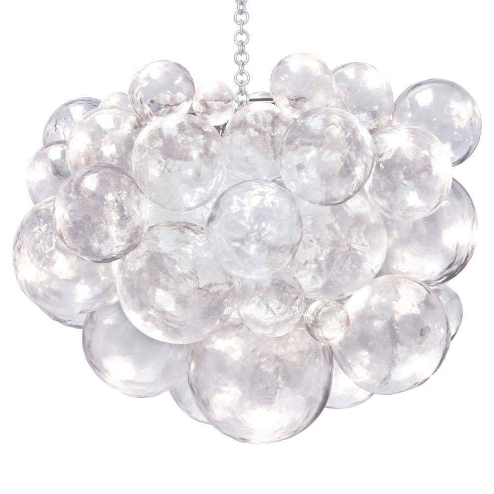 Oly studio muriel clear bubbled silver chandelier kathy kuo home aloadofball Images