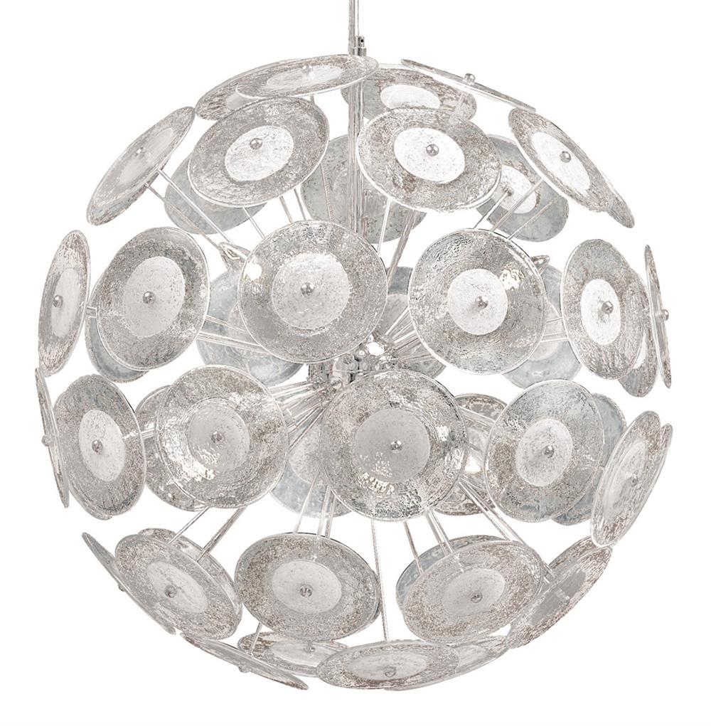 Modern Dandelion Glass Ball 6 Light Pendant Ball Chandelier