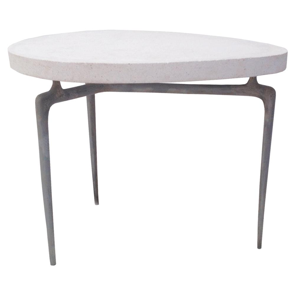 Oly Studio Ray Rustic Cream Oval End Table Kathy Kuo Home - Rustic cream coffee table