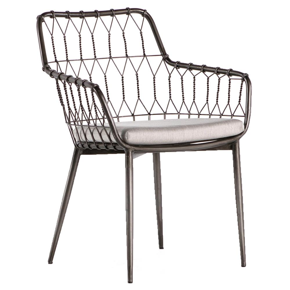 Iron Dining Chairs ~ Albin hairpin iron rattan outdoor dining chair kathy kuo