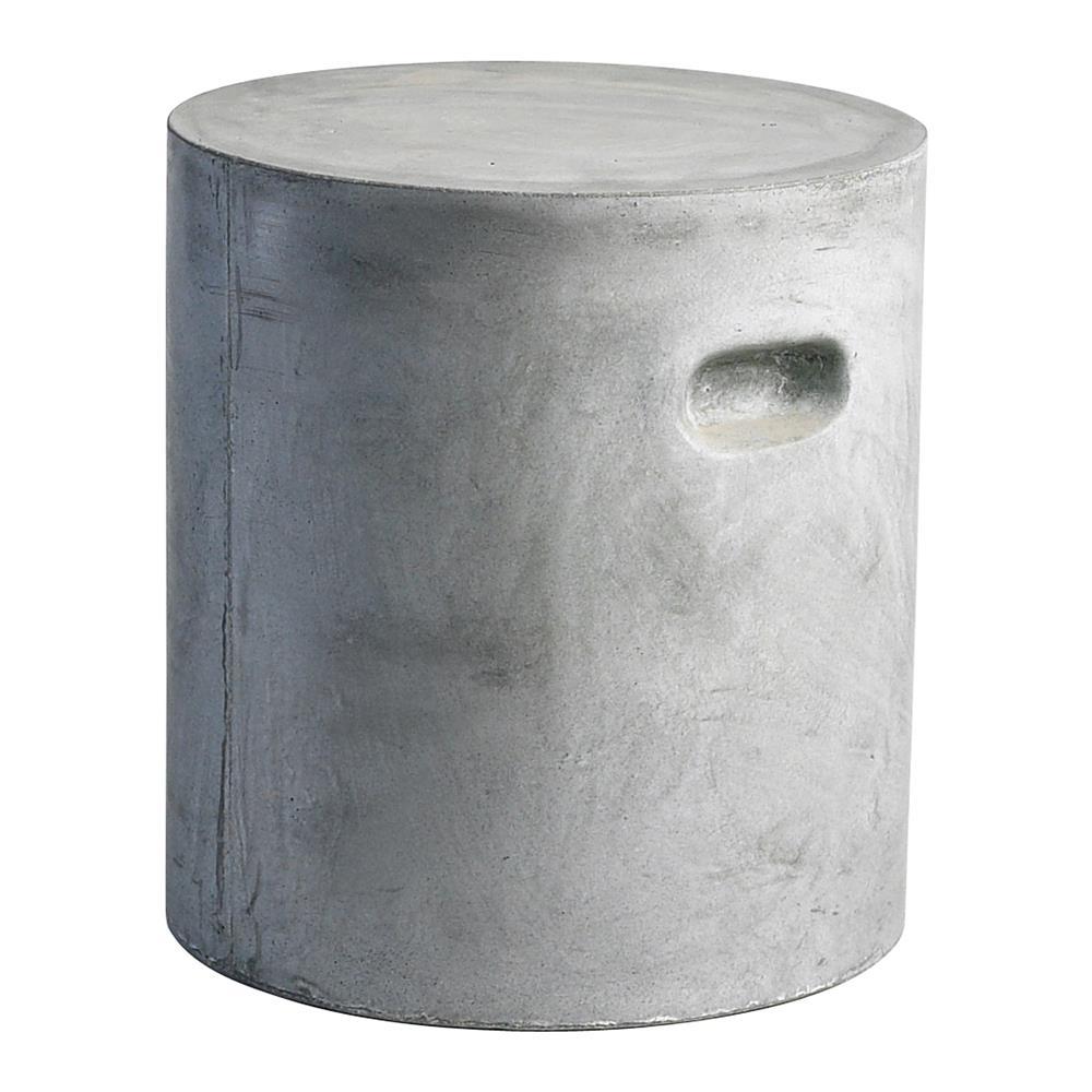 modern industrial loft round gray clay outdoor unglazed