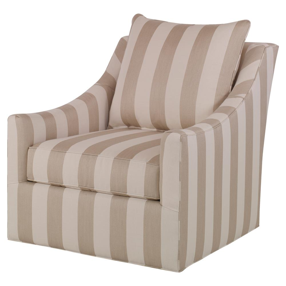 briggs coastal beige striped outdoor swivel chair kathy kuo home