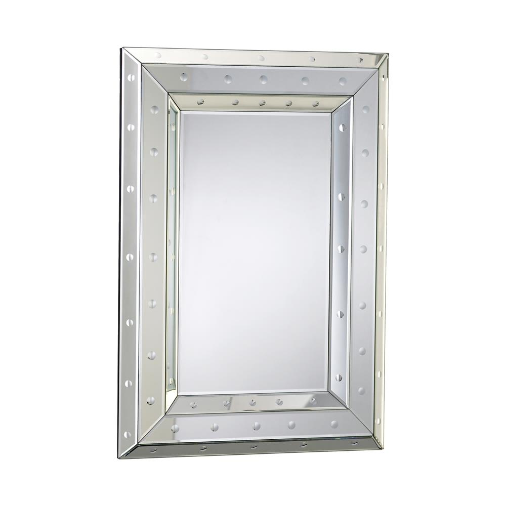 Marriot modern convex dot rectangle wall mirror kathy for Convex mirror for home