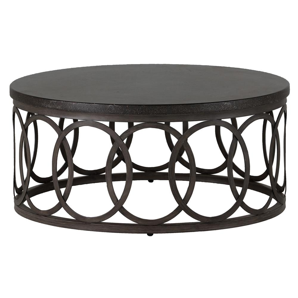 Summer Classics Ella Oval Interlock Black Outdoor Coffee Table