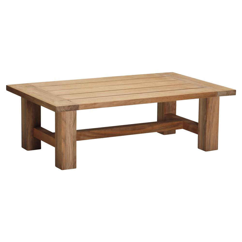 Outdoor Coffee Table: Summer Classics Croquet Natural Teak Wood Outdoor Coffee Table