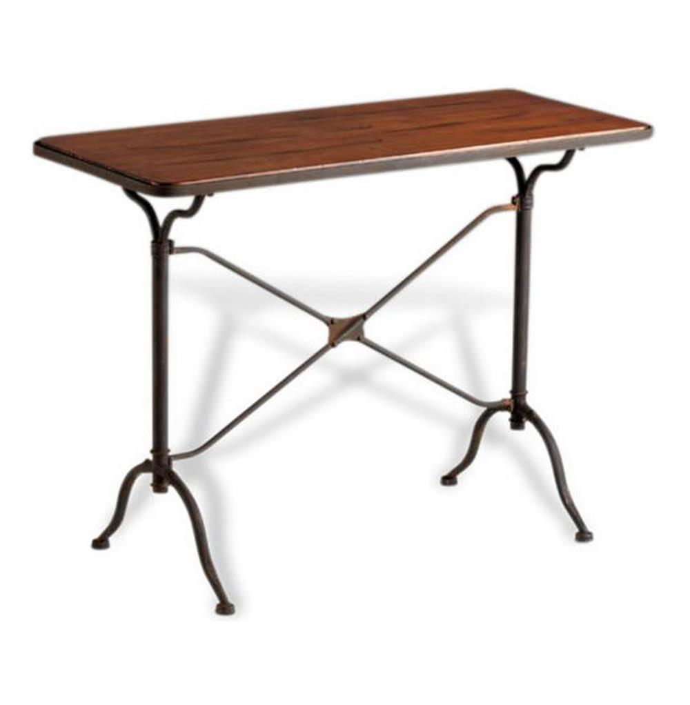 Iron Console Table : ... Loft Contemporary Iron Wood Metal Console Table  Kathy Kuo Home