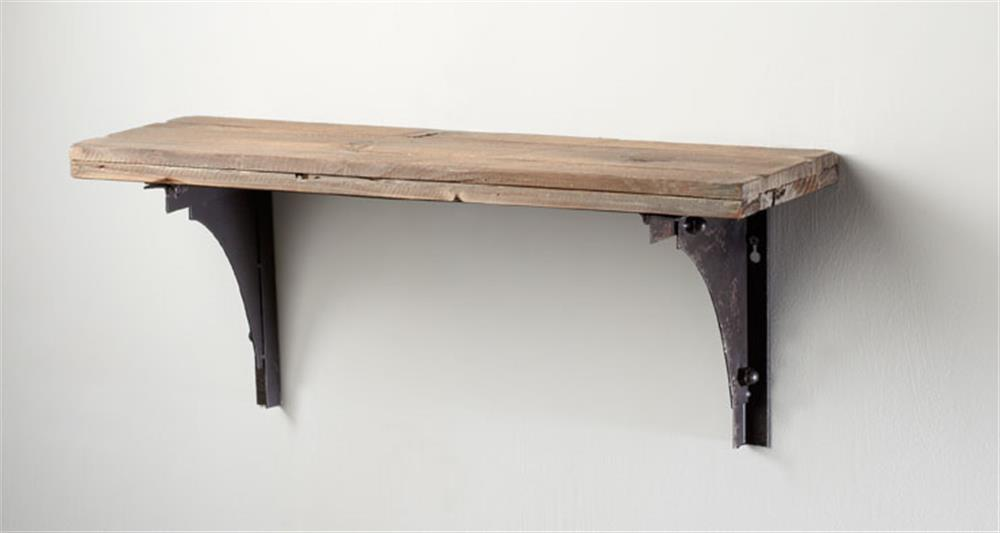 Industrial Rustic Farmhouse Style Simple Post Wall Shelf