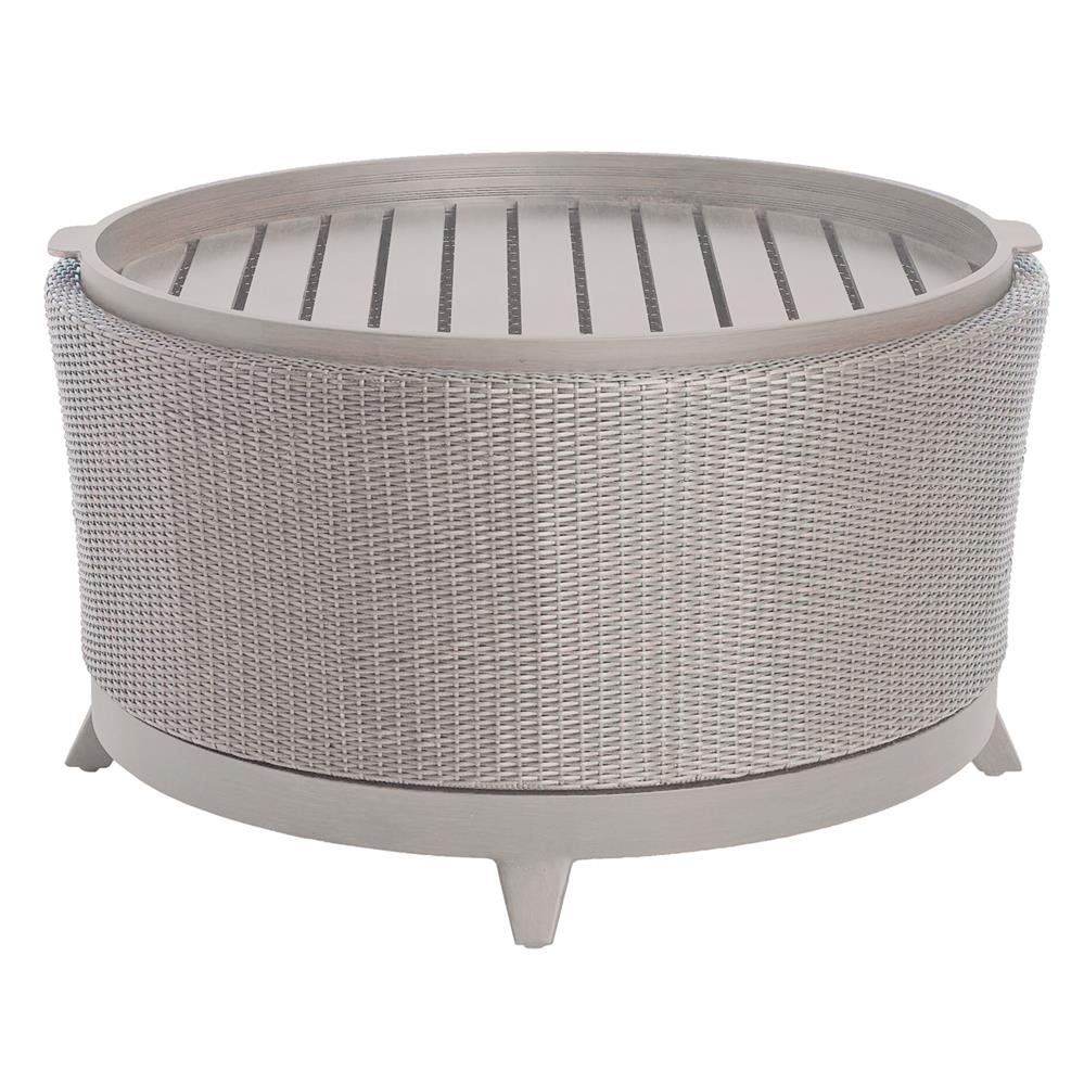 Small Grey Rattan Coffee Table: Summer Classics Halo Tray Grey Oyster Wicker Outdoor