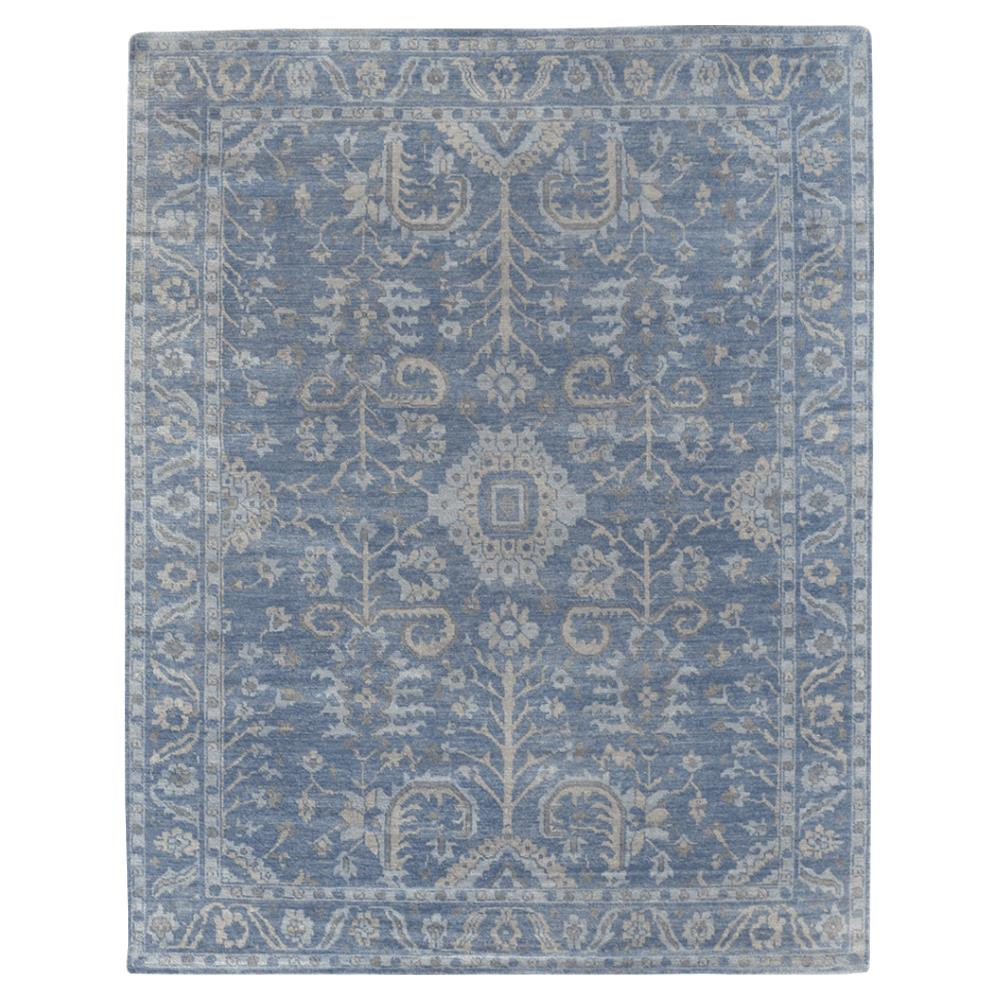 Exquisite Rugs Lubois French Country Antique Blue Wool Rug 8x10 Kathy Kuo Home