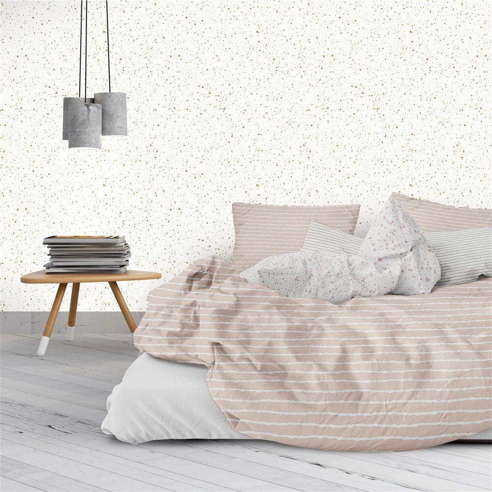 gold splatter modern classic removable wallpaper kathy