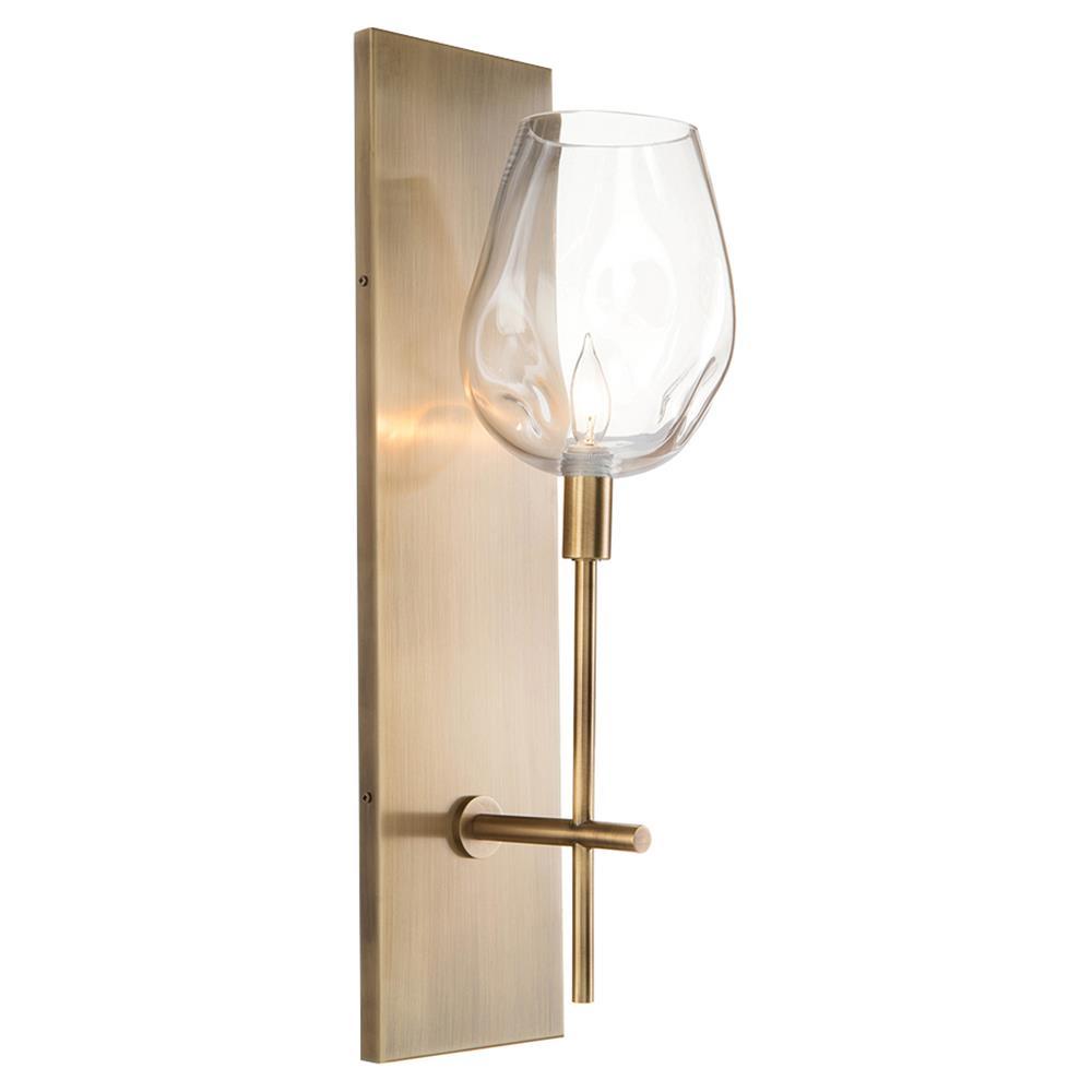 alana rectangular large brass plated glass globe modern sconce  - alana rectangular large brass plated glass globe modern sconce  kathy kuohome