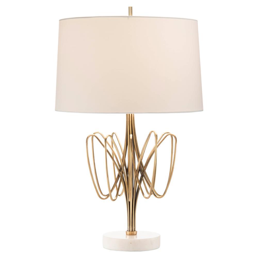 John Richard Slade Modern Classic Brass Marble Table Lamp Kathy