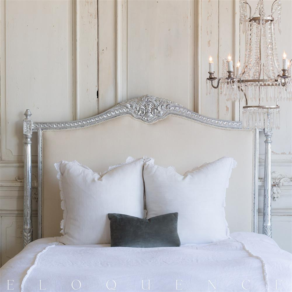 french country style vintage style headboard kathy kuo home