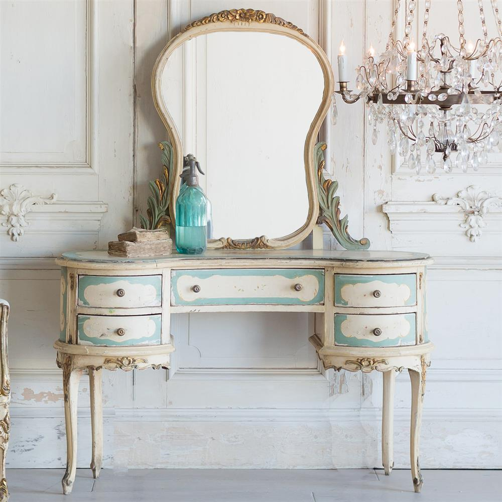 French Country Style Vintage Vanity 1940 Kathy Kuo Home