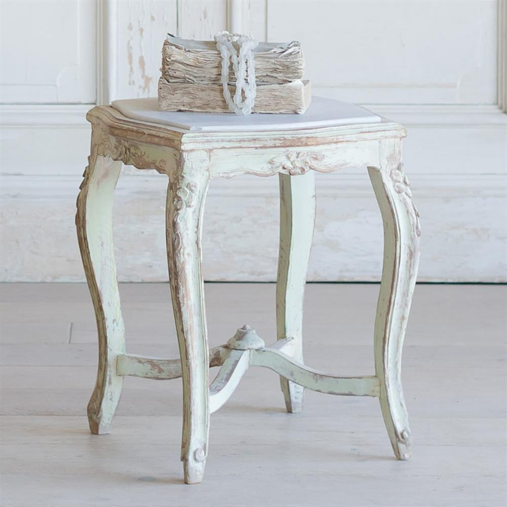 French Country Style Vintage Side Table 1940 Kathy Kuo Home