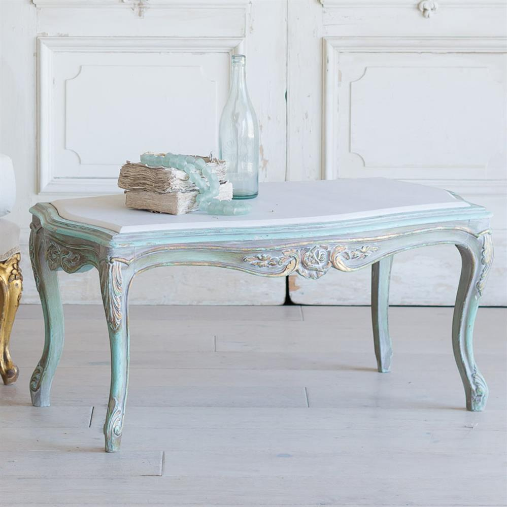 french country style vintage coffee table 1940 kathy kuo home. Black Bedroom Furniture Sets. Home Design Ideas