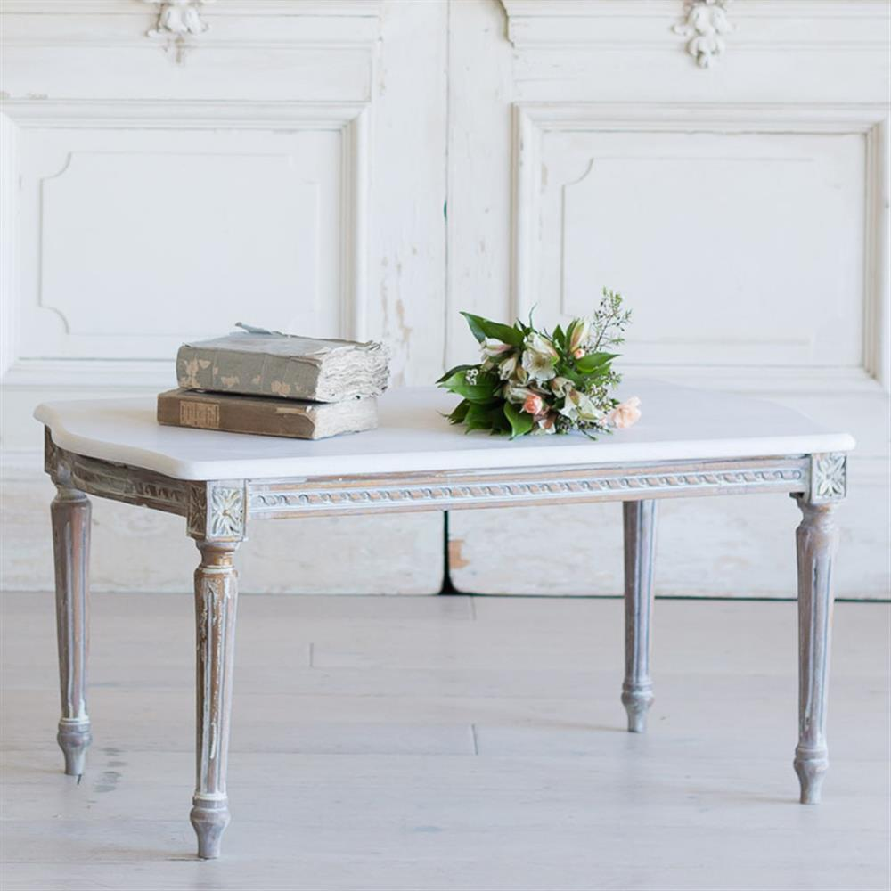 French Country Coffee Table And End Tables: French Country Style Vintage Coffee Table: 1940