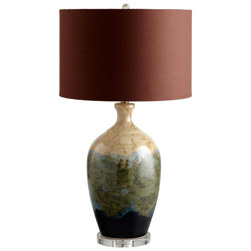 Southwestern Color Abstract Landscape Table Lamp