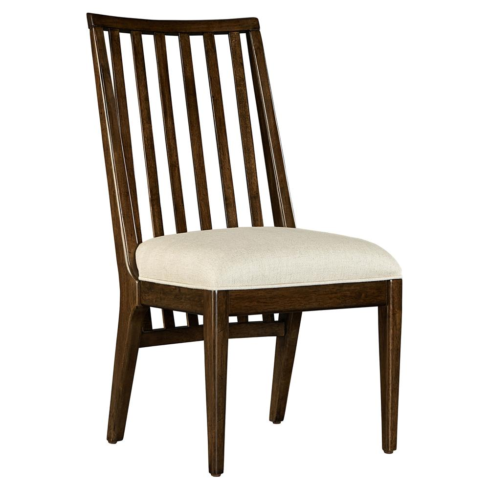 Hester modern classic wood linen upholstered dining chair