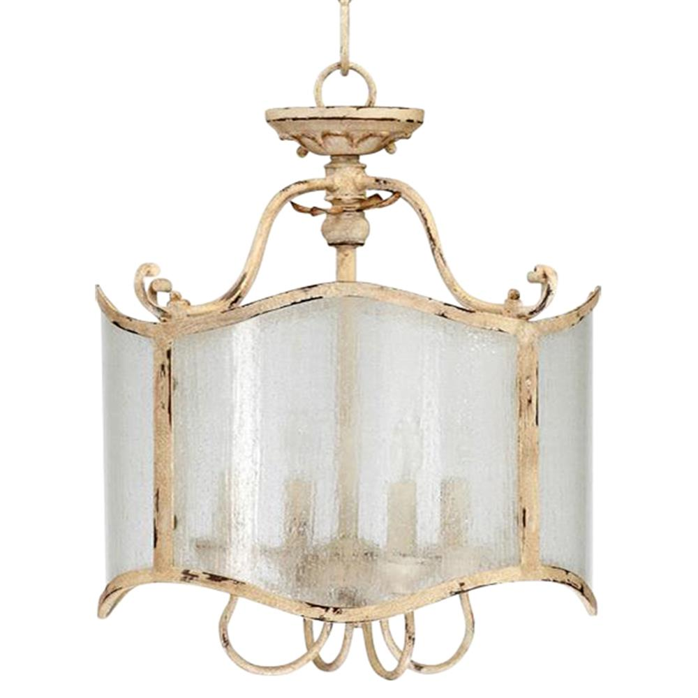 Maison french country antique white 4 light glass French country chandelier