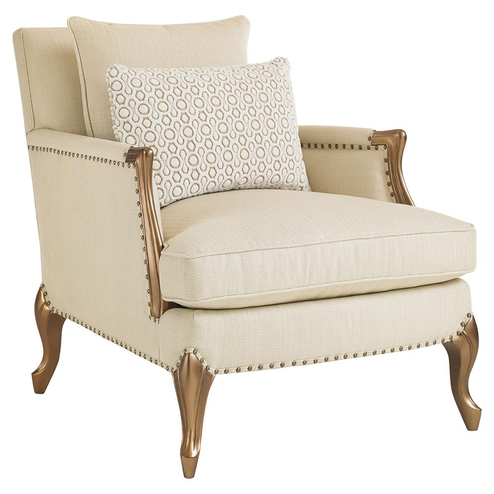 Bernice French Country Herringbone Linen Accent Club Chair | Kathy Kuo Home