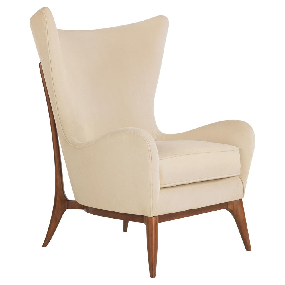 Alice Classic Wing Back Winter White Upholstered Club Chair Kathy Kuo Home
