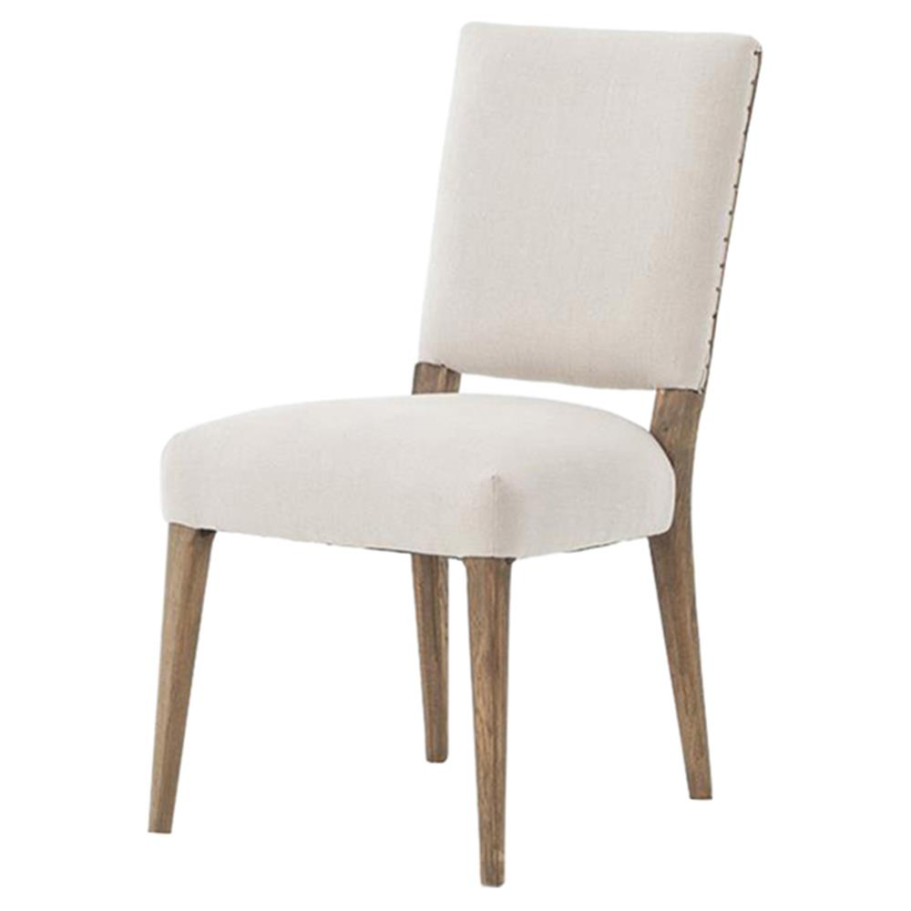 Holland Modern Classic Soft Beige Linen Dining Chair   Pair   Kathy Kuo  Home ...