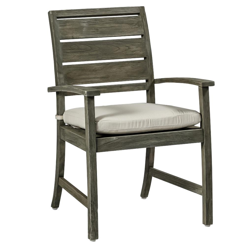 Charleston Modern Classic Cushion Teak Arm Chair Kathy
