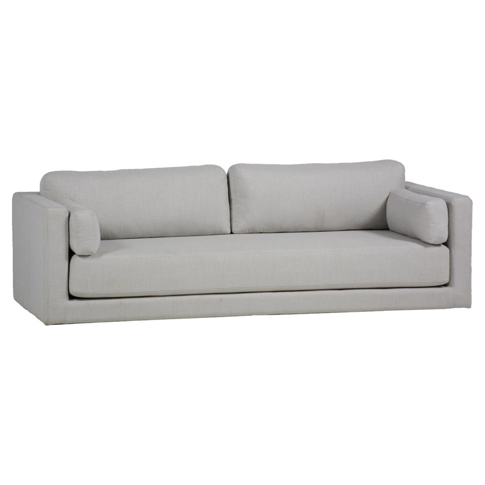 Summer Classics Venti Modern Minimalist Silver Water Resistant Upholstered  Sofa | Kathy Kuo Home ...