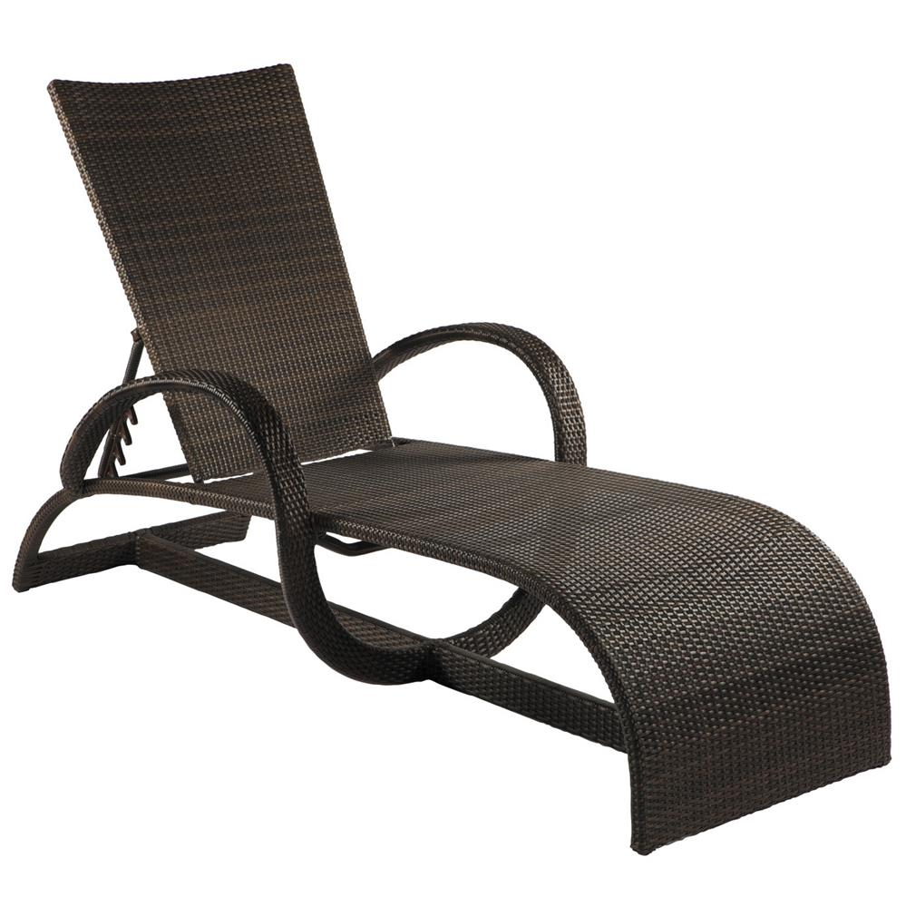 Summer classics halo modern coastal outdoor black walnut for Black wicker chaise lounge