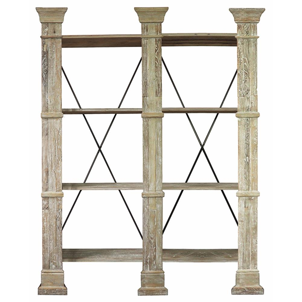 Moullin french country distressed wall shelf kathy kuo home amipublicfo Image collections