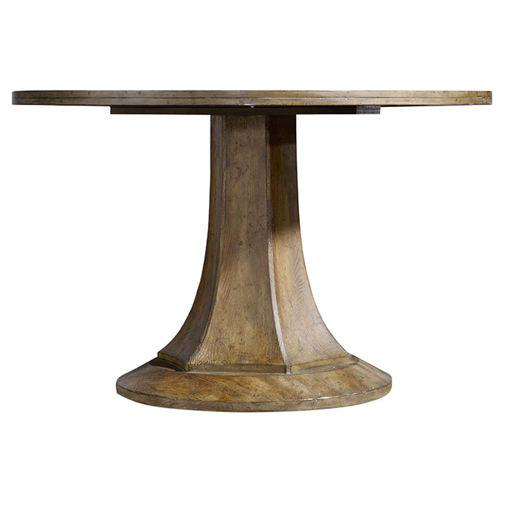 Soren modern classic pedestal dining table kathy kuo home for Pedestal dining table