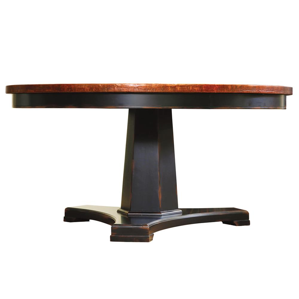 Todd Modern Classic Copper Top Pedestal Dining Table