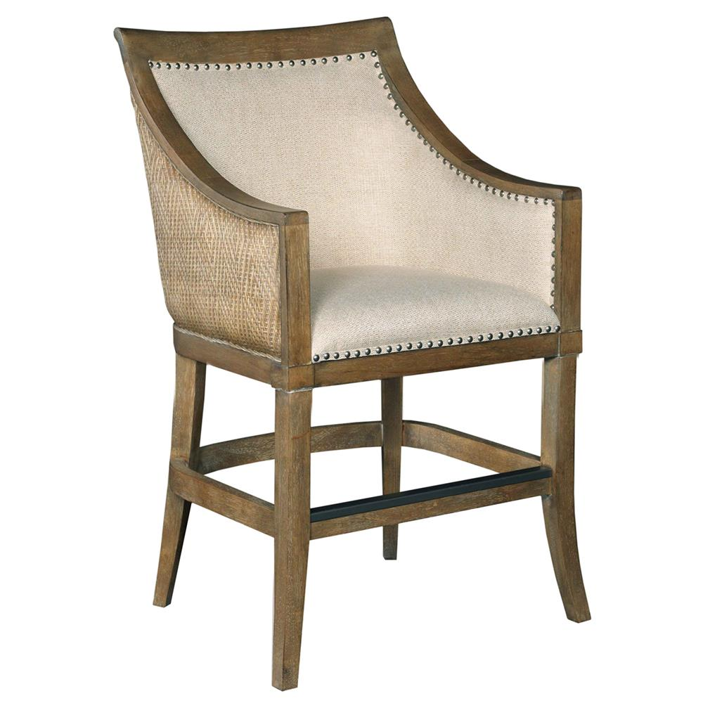 Panama Coastal Linen And Seagrass Counter Stool Kathy
