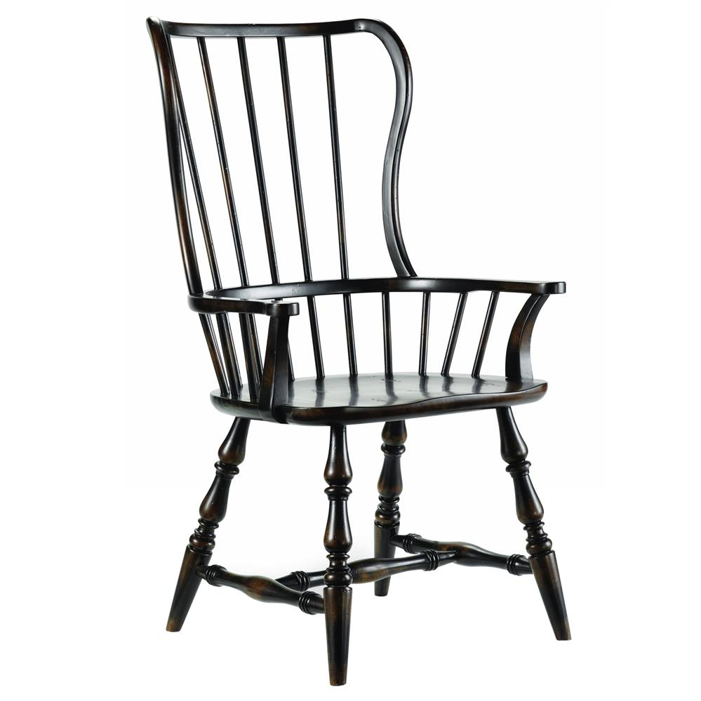 Anson modern classic ebony windsor arm chair kathy kuo home for Classic home chairs
