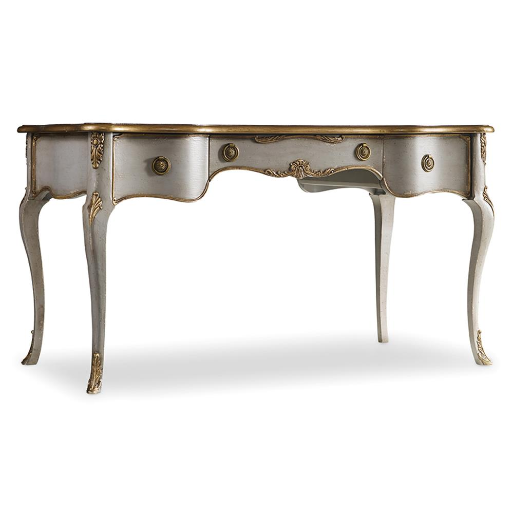 Babel French Country Gold Accent Writing Desk Kathy Kuo Home
