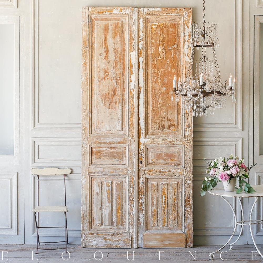French country style eloquence pair of vintage doors 1940 for French country doors