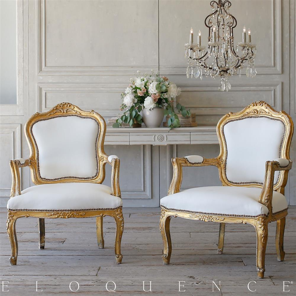Ordinaire French Country Style Eloquence Pair Of Vintage Armchairs: 1940 | Kathy Kuo  Home ...